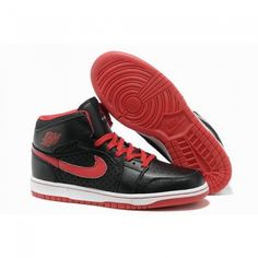 Wholesale Air Jordan 1 (I) Retro Men Shoes Black/Red 1068 For $52.60