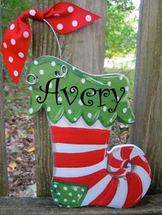 Personalized Christmas ornaments by twosisters76 on Etsy, $16.50  OR   CUT OUT OF CARDBOARD OR BALSAWOOD OR PLYWOOD   | http://doityourselfcollections.blogspot.com