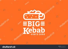 Big kebab logo template with type of line art logo inspiration. vector icon illustration Can use for corporate brand identity, cafe, and restaurant Types Of Lines Art, Logo Inspiration, Kebab, Logo Restaurant, Great Logos, Art Logo, Vector Icons, Logo Templates, Brand Identity