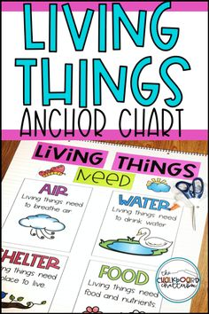 Living and Non-living Things Anchor Charts Elementary Science Classroom, Living And Nonliving, Unit Studies, Science Resources, Cause And Effect, Anchor Charts, Ways To Save, Social Studies, Chalkboard