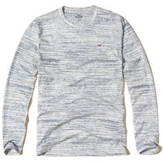 Hollister Textured Crew Icon T-Shirt ($9.97) ❤ liked on Polyvore featuring men's fashion, men's clothing, men's shirts, men's t-shirts, light blue, mens long sleeve t shirts, j crew mens shirts, mens slim fit t shirts, mens longsleeve shirts and mens light blue shirt