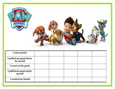 Printable Potty Chart for Bookmarking and Save the Idea