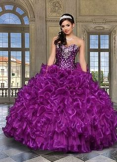 Estoque Roxo quinceanera Vestidos 2015 vestido de baile vestido Sweetheart sweet16 Vestidos | Roupas, calçados e acessórios, Roupas femininas, Vestidos | eBay!
