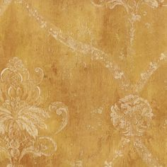 Wallpaper for the Master Bedroom feature wall. Norwall Patton Grand Chateau Trellis Medallion Damask.