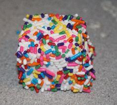 Funfetti Marshmallows!!  Found on the JulieBakes website: http://juliebakes.blogspot.com/2014/07/funfetti-marshmallows.html