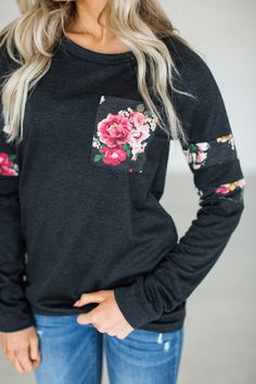 Floral Track Pullover
