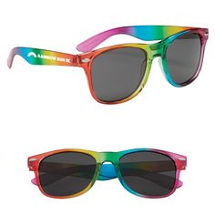 635b9ca796c1 Promotional Rainbow Malibu Sunglasses are built using polycarbonate  material and it consists of lenses which will provide UVA and UVB protection .