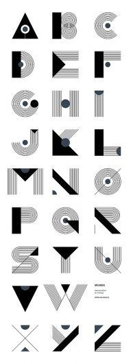 Moshun - animated font on Typography Served