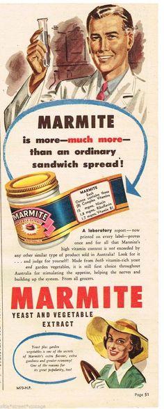 Original MARMITE AD RETRO MARMITE JAR ART 1953 Vintage Australian Advertising in | eBay