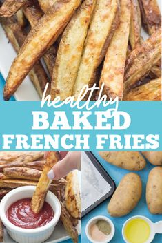 This Healthy Baked French Fries are simply the best. Baked in the oven, they're better than any other homemade fries while being paleo, Whole30 and gluten free! Made with only four ingredients, they're easy to make and taste delicious! #Whole30 #paleo #glutenfree #dairyfree #healthy #fries #potatoes