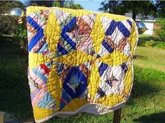 This quilt was made for my mom when I was 5 years old. I remember all of the 8 women, (my aunts, and my mom) as they all sat at the quilting rack as this quilt was made. It's in excellent condition, all hand made with domestic material.