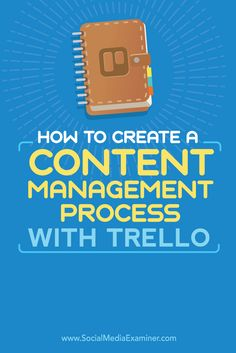 Do you develop multiple pieces of content at one time? Whether you're working solo or with a team that manages content for clients, it's essential to have a system in place to ensure that everything you publish is managed properly from ideation through promotion. In this article, you'll discover how to manage your content with Trello. Via @smexaminer.