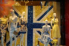 Queen;s jubilee window visual merchandising VM