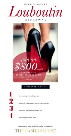 Head over to www.thefashionfuse.com to enter for you chance to win.