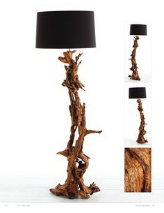 Arteriors Home Ashland Gold Leaf Dragon Tree Root Floor Lamp, Arteriors Home 72 - floor lamps - Chachkies Tree Lamp, Tree Floor Lamp, Rustic Floor Lamps, Wood Lamps, Contemporary Floor Lamps, Modern Floor Lamps, Driftwood Lamp, Table Lamp Shades, Tree Lighting