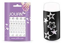 Jolifin Fancy Nail Sticker silver 4