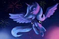 fireworks and princess luna the best princess ever mlp fim my little pony friendship is magic