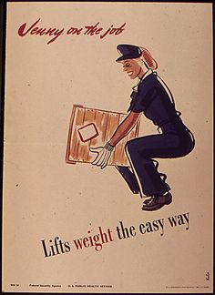 Forgotten Posters of World War II - JENNY ON THE JOB. Jenny could not live in today's world. Women who juggle career and family obligations would not merely laugh at her. They would resent the federal government for creating posters that contain paternalistic attitudes toward women.  From a purely historical perspective, however, these posters are more than interesting. They depict a time in American life that most women working today have never known.