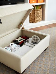 Storage Ottoman for a Small Space