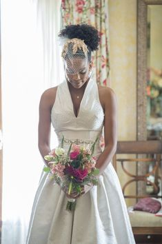 Meet Christopher and Ajia Morris | Real Bride | Natural Hair Bride #naturalhair #naturalhairstyles #naturalpuff