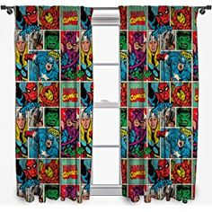 Disney Marvel Comics 'STRIKE' 54-Inch Curtain Set