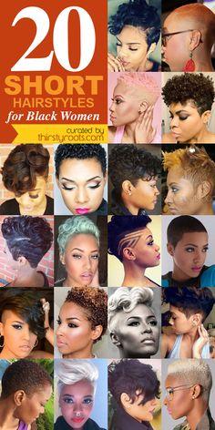 20 Short Hairstyles for Black Women