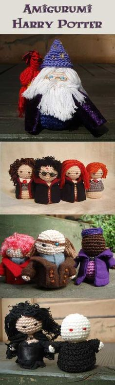 Amigurumi Harry Potter - These knitted creations of the Harry Potter characters are absolutely adorable!