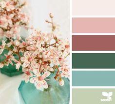 'Flora Hues' again lovely palette. Colour Pallette, Colour Schemes, Color Patterns, Color Combos, Design Seeds, Color Blending, Color Mixing, Color Bordo, Color Balance