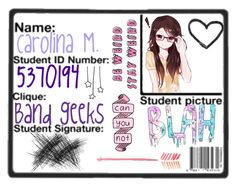"""""""ID Card"""" by tell-me-pretty-lies ❤ liked on Polyvore featuring art"""