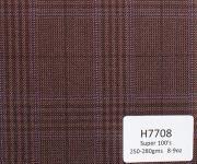 H7708 - DARK BROWN WITH PURPLE PRINCE OF WALES (250-280 grams / 8-9 Oz)