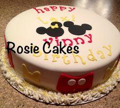 #mickey #minnie #birthday #cake # fondant