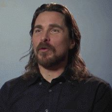 Christian Bale laughing during Knight of Cups press junket.  Thanks Falco for the Gif!  Love seeing him laugh!