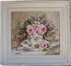 Original Painting - China & Blooms - Postage is included in the price Australia wid