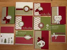 I know these are for Christmas, but the idea could easily be adapted for any papers! Here it is! Free Christmas Cards pdf! from Flowerbug's Inkspot