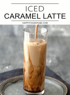 Homemade Iced Coffee, Iced Coffee Drinks, Iced Coffee Almond Milk Recipe, Easy Ice Coffee Recipe, Baileys Drinks, How To Make Ice Coffee, Easy Coffee, Coffee Ideas, Iced Caramel Latte Recipe
