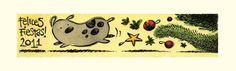 Happy Holidays everyone! India ink and pen + watercolour. -------------------------------------------------------- Felices fiestas a todos! Tinta china y pluma + acuarelas.