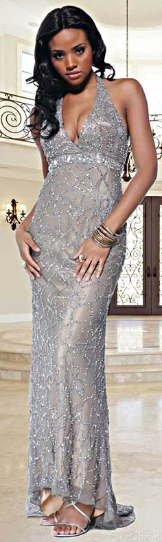 Scala Shimmering Evening Gown