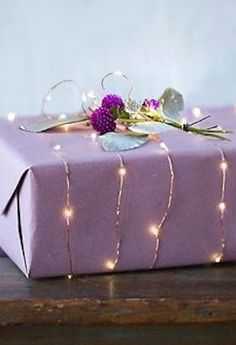 Wrap in battery operated lights and other great gift wrapping ideas