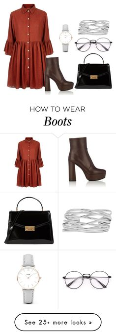 """""""BOOTS"""" by nidwizabhatta on Polyvore featuring Mela Loves London, Prada, Tory Burch, M&Co and CLUSE"""