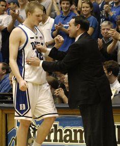 Kyle Singler and Coach K