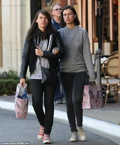 Holiday shopping: Clea DuVall and her girlfriend were spotted walking arm-in-arm in Los Angeles on Friday Clea Duvall, Laura Prepon, Cat Bag, Argo, Lesbian Love, My Buddy, Shopping Spree, Girlfriends, Two By Two
