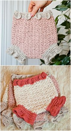 You'll Love These Crochet Diaper Cover Patterns Crochet Girls Dress Pattern, Crochet Bib, Crochet Ruffle, Newborn Crochet, Booties Crochet, Crochet Baby Clothes, Crochet Baby Hats, Crochet For Kids, Crochet Diaper Covers
