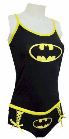 batgirl nightwear!  reminds me of my wonder woman underoos!  hehehe