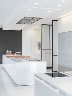 Minimalist kitchen design, Villa Chameleon in Mallorca.