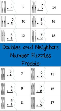A fun and free way to practice addition facts.  These are great for Guided math centers, intervention and homework.