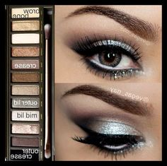 Prom Silver Eyeshadow using the Naked 2 palette - Awesome Makeup