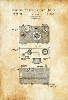 Argus C Photographic Camera Patent – Patent Print, Wall Decor, Photography Art, Camera Art, Vintage Camera, Camera Decor, Photographer Gift – myPatentPrints #patentartvintage #vintagecameras
