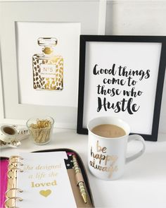 Pretty Desk Styling & Art Prints