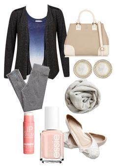 """Untitled #125"" by musicheartbeatjj ❤ liked on Polyvore featuring Velvet by Graham & Spencer, VILA, Aerie, Tory Burch, Brunello Cucinelli, H&M, Essie and Ippolita"