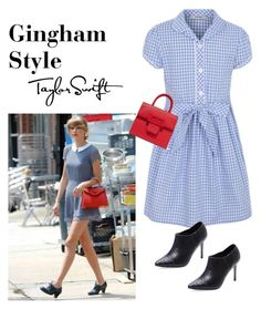 """Gingham/taylor swift inspired"" by im-karla-with-a-k ❤ liked on Polyvore featuring George, Maison Margiela and Alice + Olivia"